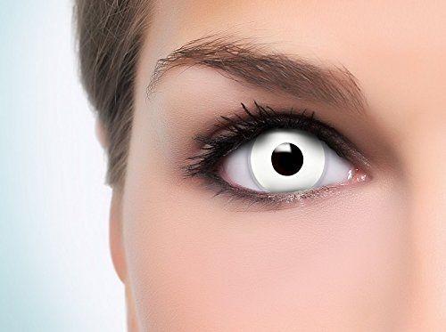 2 x 11,95€ + versand 2,90€ = 26,80€ Farbige Kontaktlinse mit Stärke 'White Zombie' mit Gratis Linsenbehälter, 1 Stück / BC 8.6 mm / DIA 14.2 / -0,50 bis -5,00 Dioptrien: Amazon...
