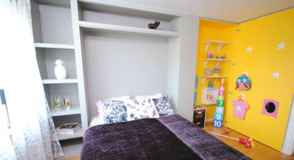 Martin och Björn maximerar ytan i ett litet sovrum genom att bygga öppningsbar fondvägg som döljer både en utfällbar dubbelsäng och en lekhö...