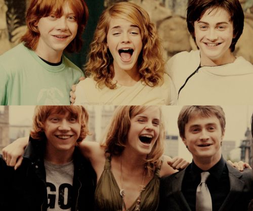 ron, hermaione y harry