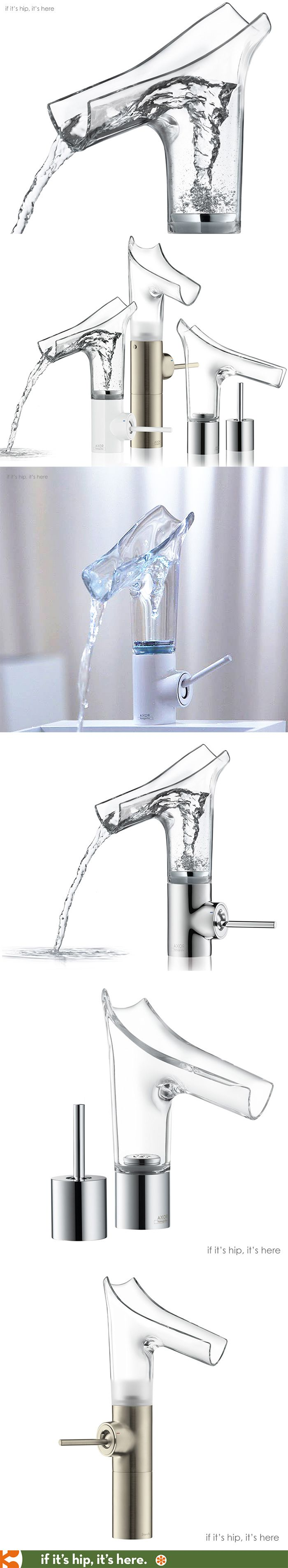 Transparent water faucets unveiled at Salon del Mobile. So cool. Link has more info.