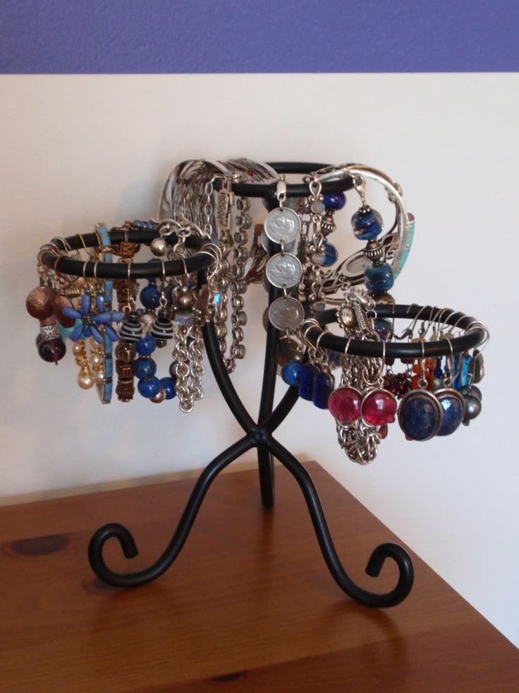 17 best images about jewelry and hair display ideas on for Repurposed jewelry holder