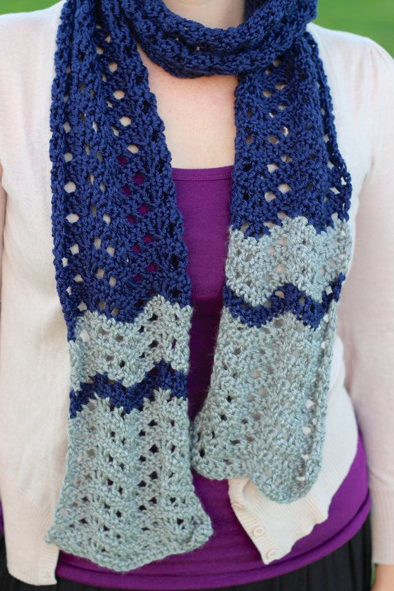 Chevron Lace Shawl Crochet Pattern : Crochet chevron lace scarf