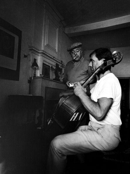 avec Maurice Baquet, 1950