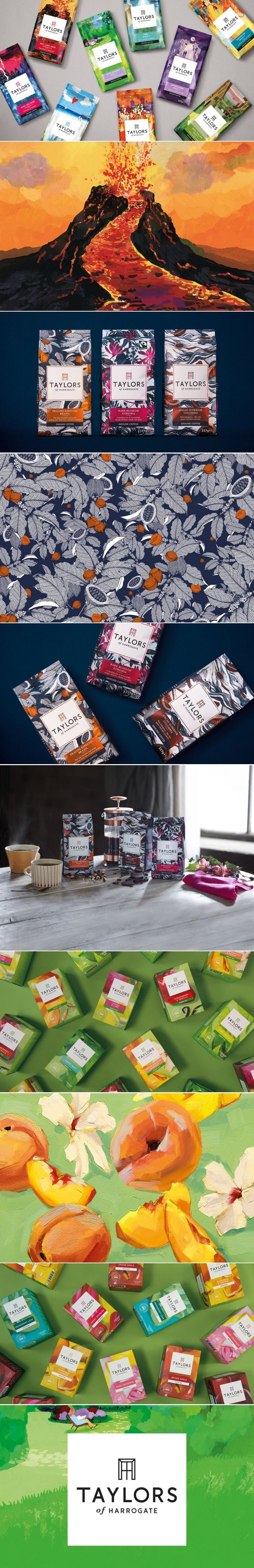 Taylors of Harrogate Unveils Bold New Packaging — The Dieline | Packaging & Branding Design & Innovation News