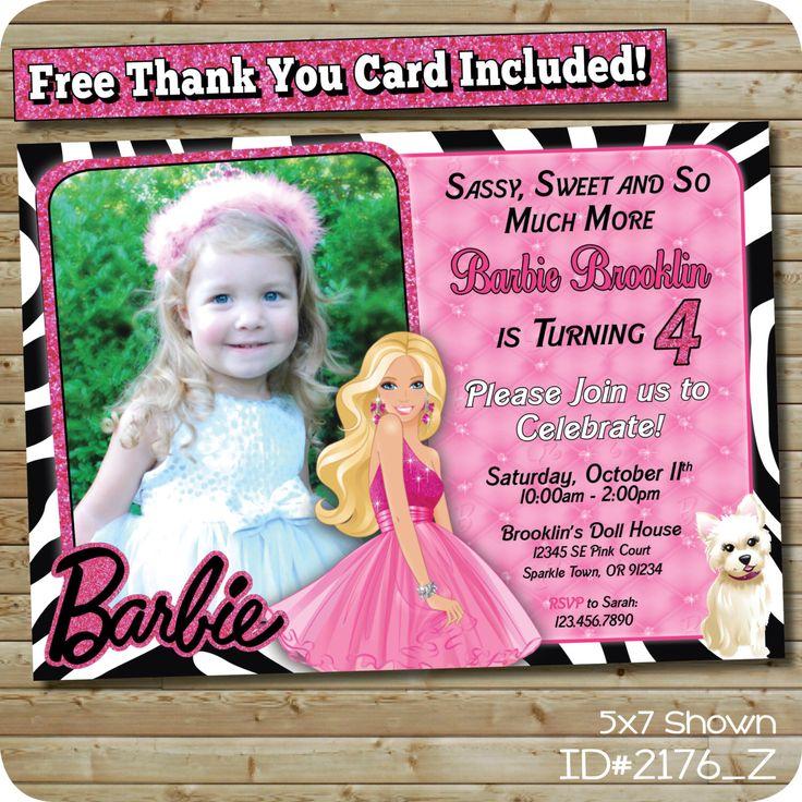 Best 25 Barbie birthday invitations ideas – Custom Birthday Invitations