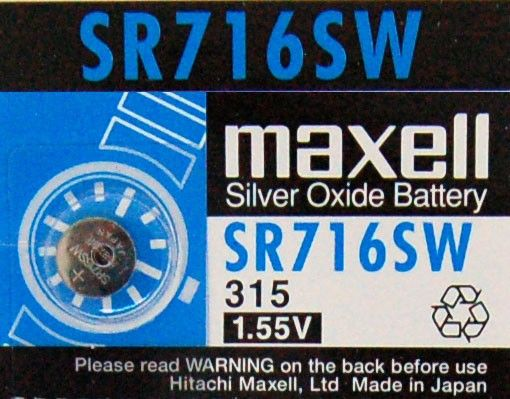 Check out our Silver Oxide SR Range SR716SW at http://watch-batteries-australia.com.au/index.php/sr716sw.html  Enjoy a flat rate shipping of only AUD$1.50 on all orders!!!