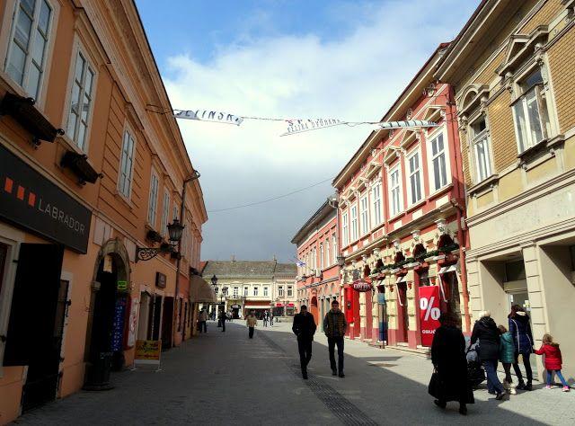 Dunavska Street in Novi Sad, Serbia