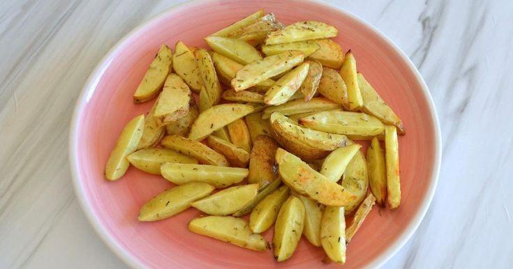 Patatas 'fritas' crujientes al horno