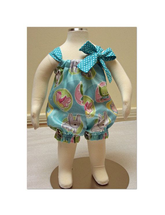 Baby romper pdf sewing pattern for baby girls by FelicityPatterns