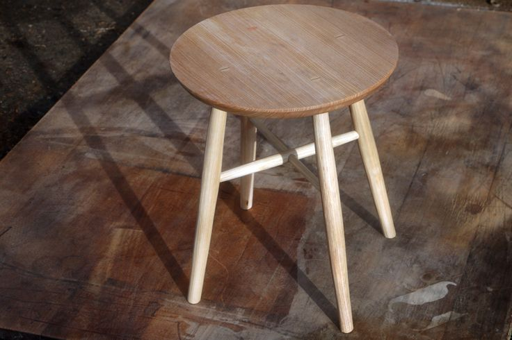 Ash side table with tapered wedged tenons.