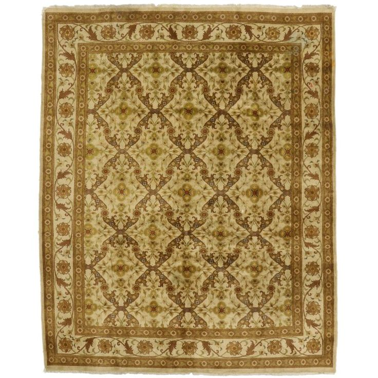 Vintage Indian Rug with Transitional Style and Golden Hues   From a unique collection of antique and modern indian rugs at https://www.1stdibs.com/furniture/rugs-carpets/indian-rugs/