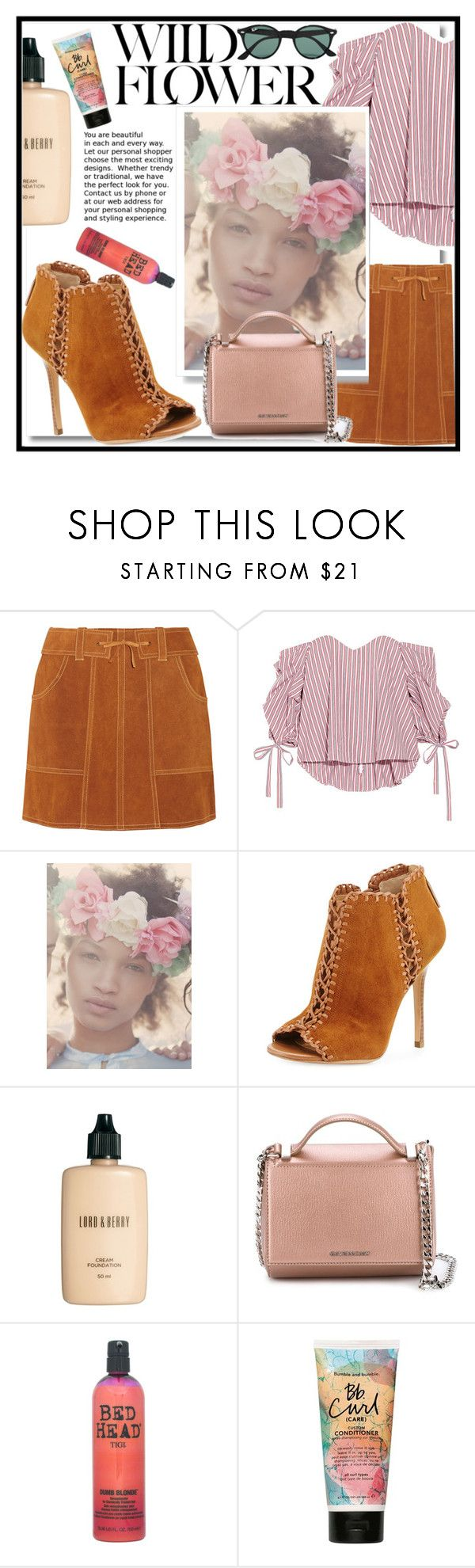 """""""Di Real Snapchat Flower Head Piece Filter II"""" by rivlyb ❤ liked on Polyvore featuring Anna Sui, Caroline Constas, Vox Populi, Michael Kors, Lord & Berry, Givenchy, TIGI, Bumble and bumble and Ray-Ban"""