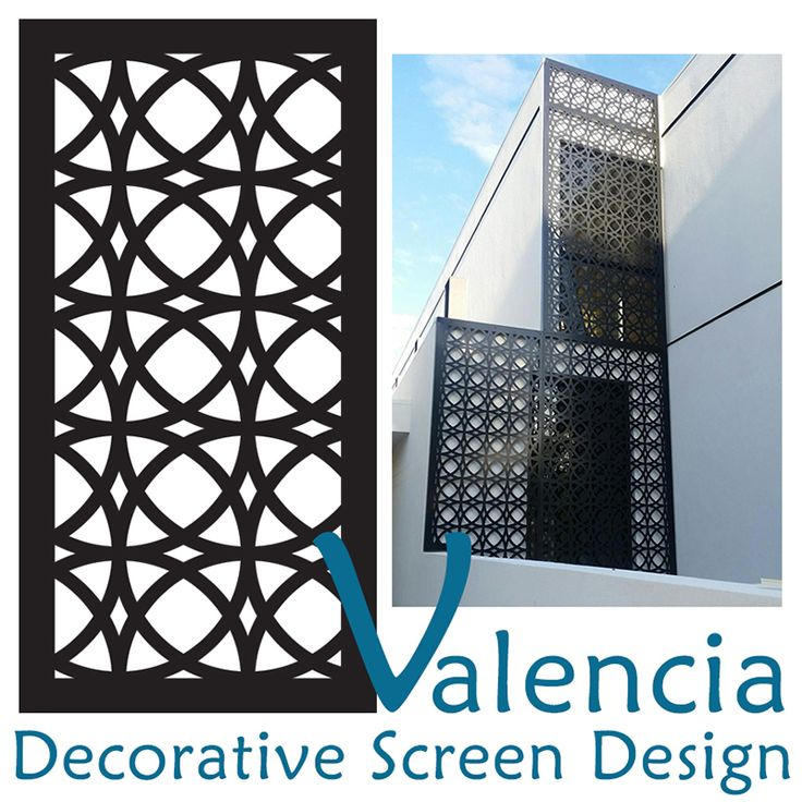 Laser cut decorative screen design 'Valencia' manufactured in Melbourne by Australia's largest decorative screen and panel manufacturer, QAQ Decorative Screens & Panels. Click through to visit our blog and see more installations of this design.