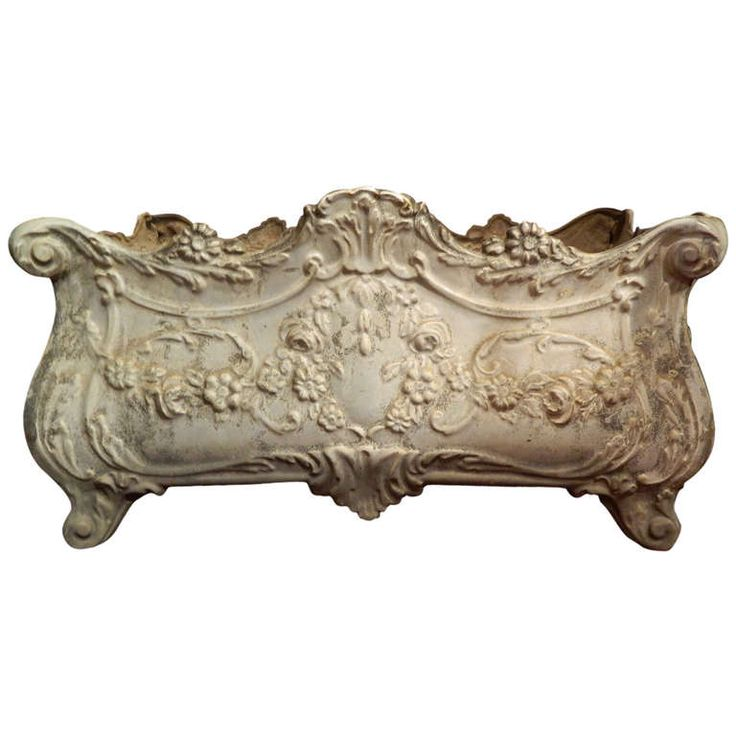 19th Century French Revival Cast Iron Planter   From a unique collection of antique and modern planters and jardinieres at https://www.1stdibs.com/furniture/building-garden/planters-jardinieres/