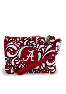 Desden  University Of Alabama Paisley Wristlet
