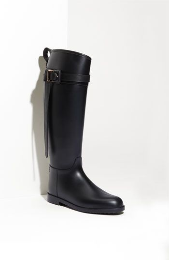 Burberry Rubber Riding Boot available at #Nordstrom