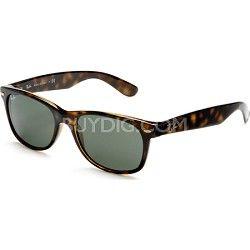 Ray-Ban New Wayfarer Sunglasses - Tortoise Frames W/Green Lens 52mm