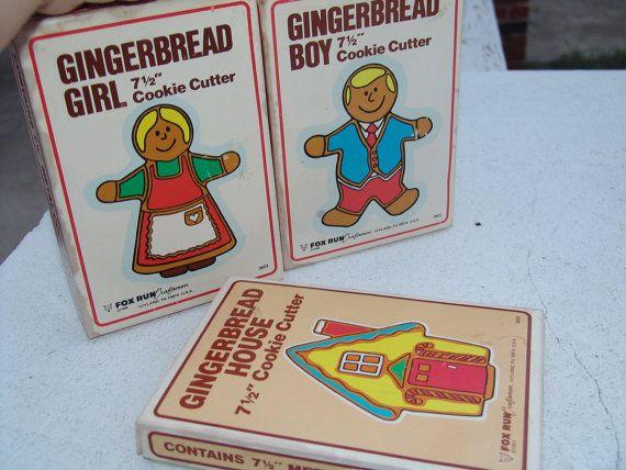Vintage Cookie Cutters, Fox Run Craftsmen Cookie Cutters, Gingerbread Boy. $19.00, via Etsy.