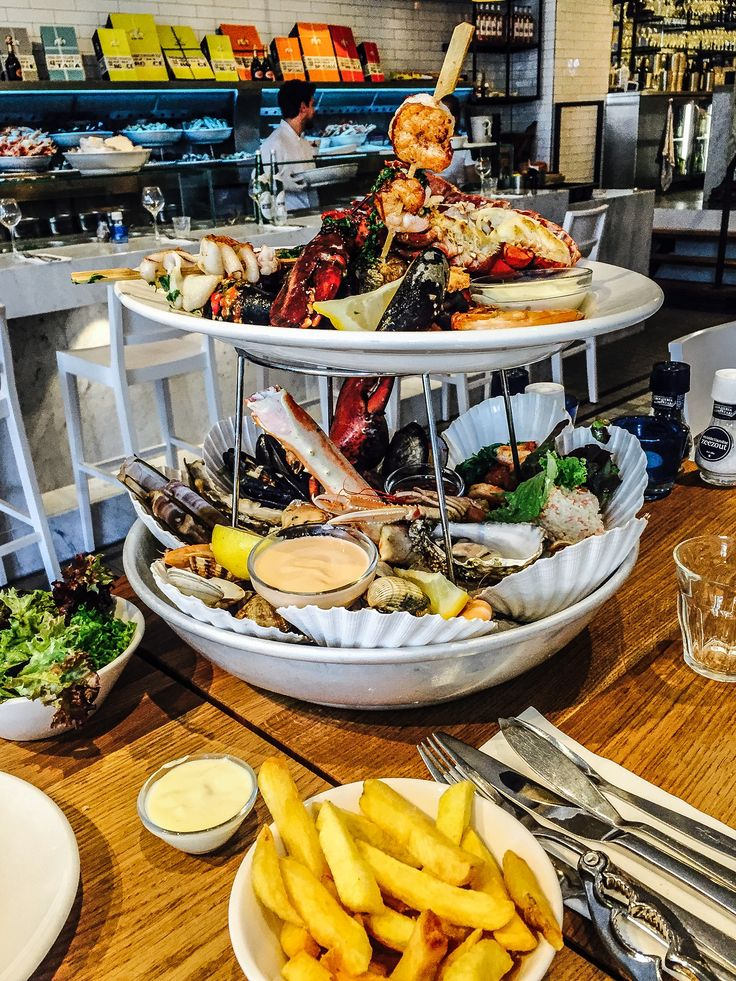 Seafood Feast. Amsterdam Netherlands, Seafood Bar Restaurant