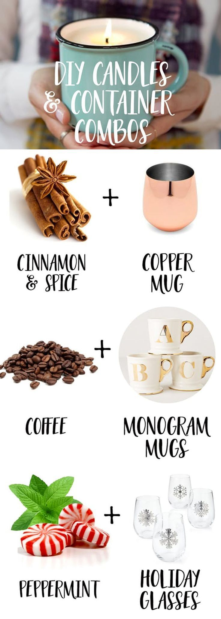 Tis the season to light lots and lots of candles. Thankfully making all those candles on your own is easier than you think. Here are nine great DIY candle and container combos to help keep you busy (and cozy) this season.Handmade candles are a great excuse to visit the thrift shop and find some unique or unexpected pieces. If you get a little candle-making crazy, then consider your holiday and hostess gifts taken care of.