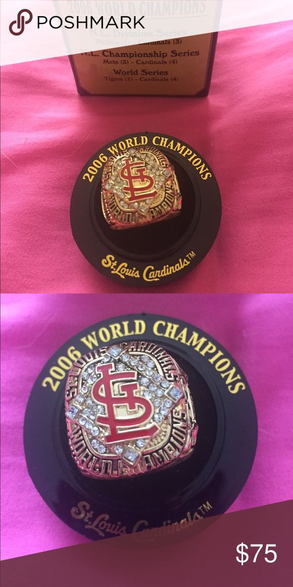 St. Louis Cardinals World Series Replica Ring Replica Ring from 2006 World Series championship win. Brand new in box. Listed as Nike for exposure only. Nike Accessories Jewelry
