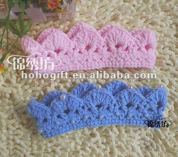 Crochet Baby Crown Headband Pattern : Pin by Kirsten Herranes on Crochet crown & Tiaras Pinterest