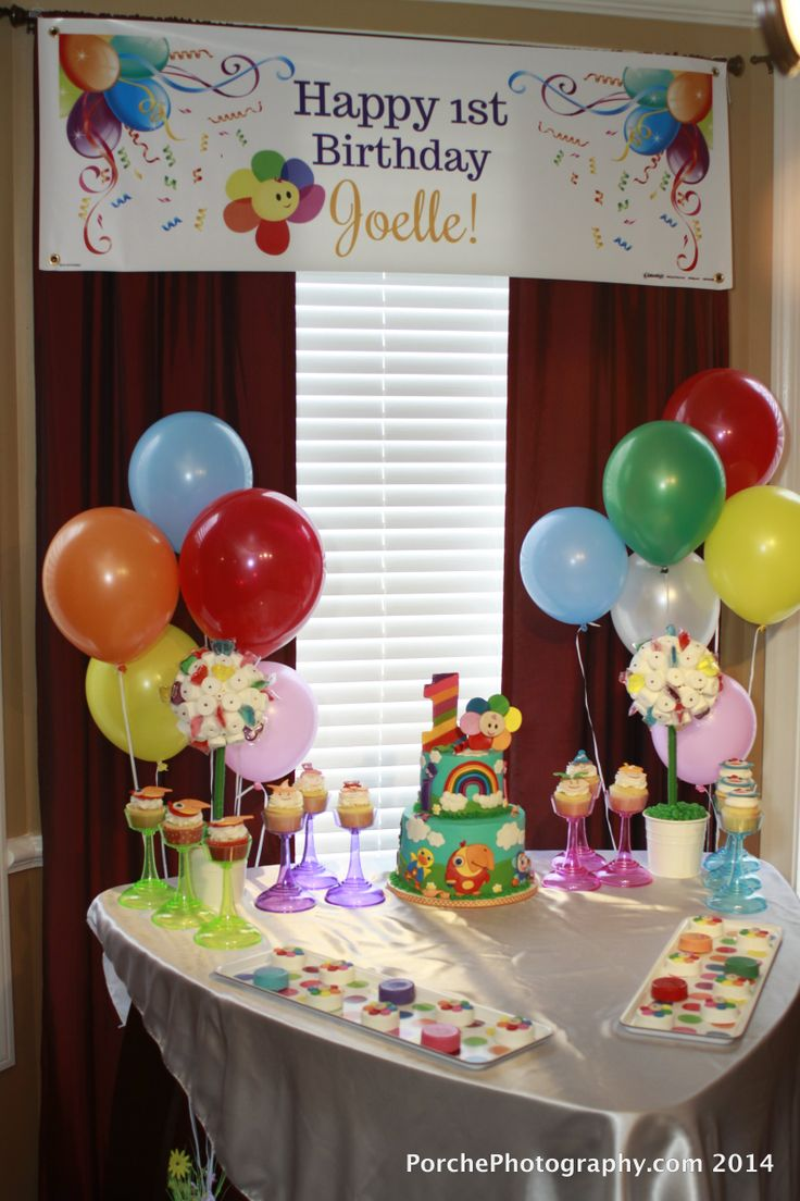 17 best images about babyfirsttv on pinterest cookie for Baby birthday decoration ideas