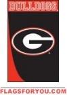 Georgia Swoosh Applique Garden Flag
