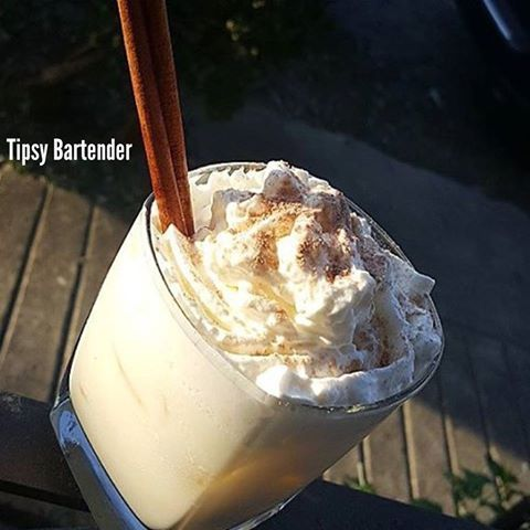 Check out the Heavenly Hill Eggnog! Perfect for the holidays! http://www.tipsybartender.com/blog/heavenly-hill-eggnog