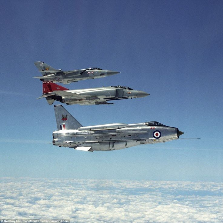 English Electric Lightening, a McDonnell Douglas F4 and the Panavia Tornado F3 variant sometime in 1992