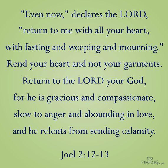 Joel 2:12-13 __________________________________ Janine Hurrie