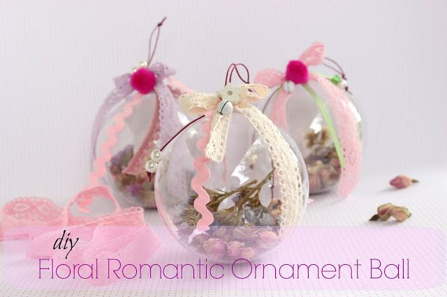 DIY Floral Romantic Ornament Ball!!!