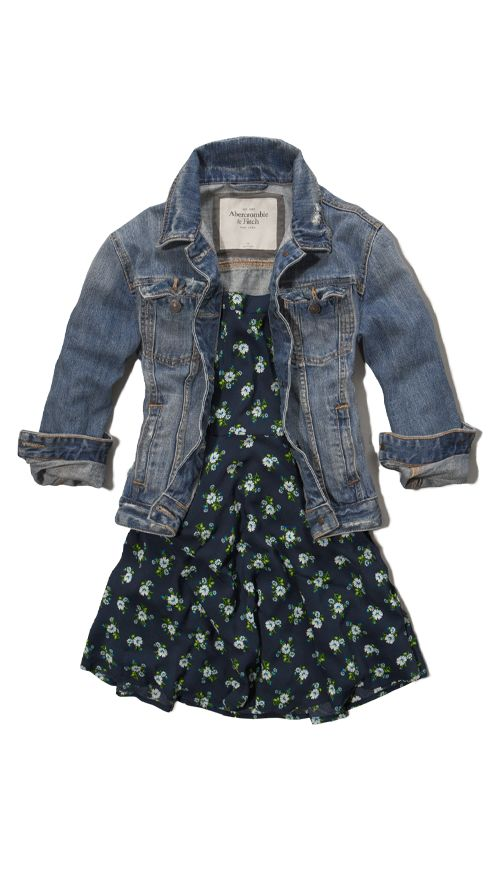 Spring Outfit, Love how the Jean jacket makes anything fun and cute!