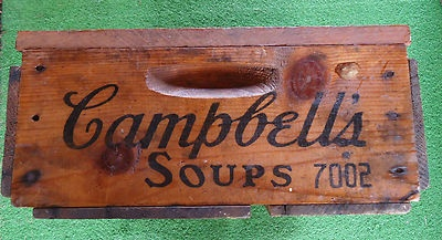 CAMPBELLS Soup Wood Box Shipping Crate Campbell Soup Company