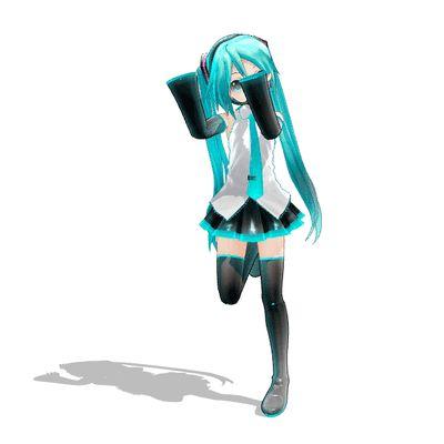 miku miku dance (gif). So cute! Why can't I be this cute!?