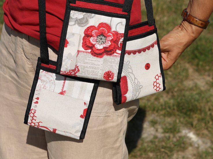 ~ Ti Sac Romantique rouge ~ Vous recherchez un petit sac pour cet été ? Chaque modèle est unique - #bag #sac #pochette #estival #summer #minimal #fanny-pack