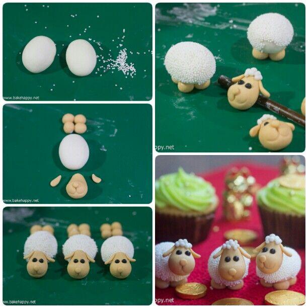 tutorial taken from http://bakehappy.net/2015/02/fondant-sheep-tutorial.html#.VUcR346qqko