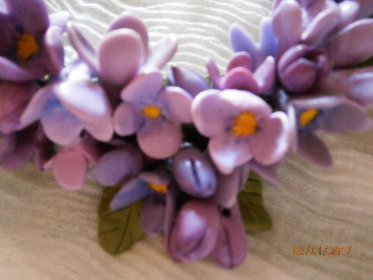 CROCHI Fiori primaverili, crocus, in vari toni di lilla. di PaTrieste su Etsy