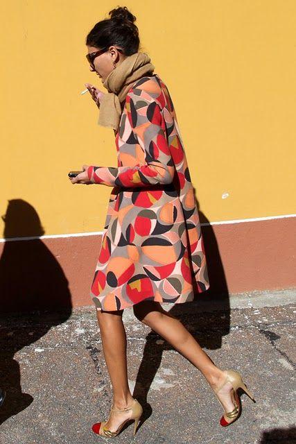 In the Street Style, Giovanna Batagglia via Cool & ChicParisians Chic, Geometric Prints, Fashion Shoes, Street Style, Giovanna Battle, African Prints, Girls Fashion, Girls Shoes