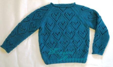 пуловер спицами +для девочки