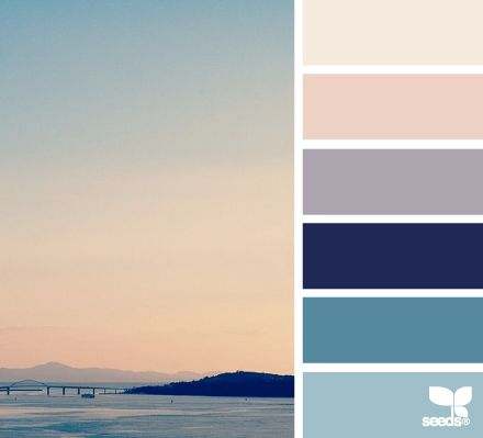These colors seem to be almost classy. I love the pale purple and pink with the dark blue.