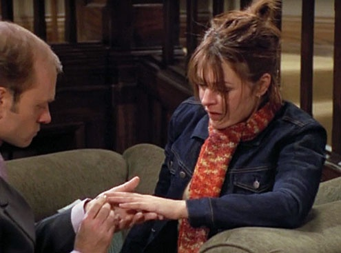 Niles and Daphne (David Hyde Pierce and Jane Leeves), Frasier