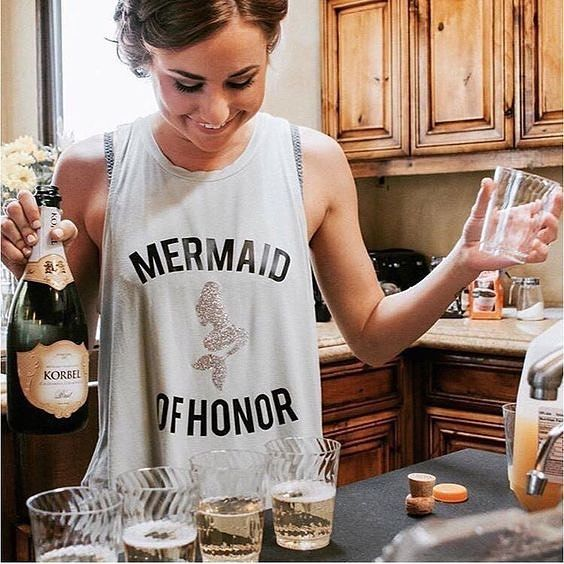 Woohoo it's almost the long weekend! Double tap and tag your Mermaid of Honor!  #Regram @weddingstylechic