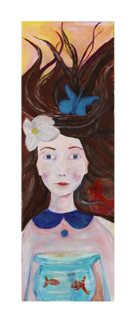 Fine art print portrait Art print Girl with by NataliesWunderland