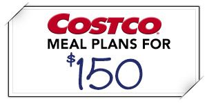 Costco meal plans- 20 meals for $150