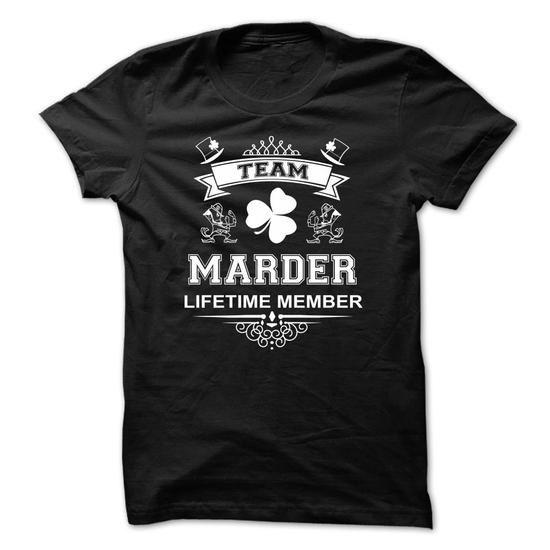 Luxury TEAM MARDER LIFETIME MEMBER name tshirts MARDER gift ideas Popular