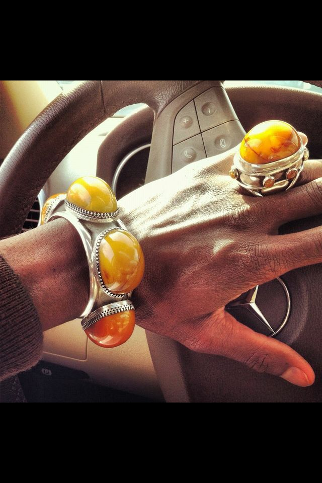 Sterling Silver Copal Amber RIng