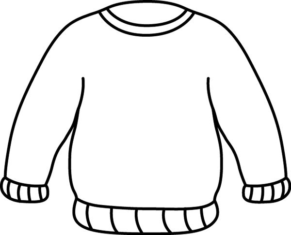jacket clipart black and white - photo #17