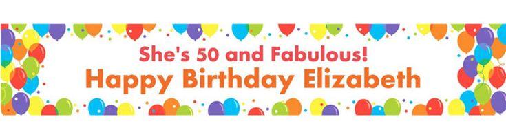 Custom Rainbow Balloon Bash Banner  Party City