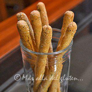 Palitos de pan aromáticos sin gluten